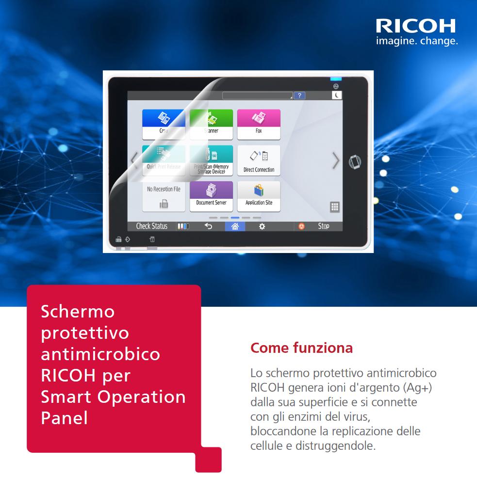Scopri la novità di Ricoh: l'innovativo schermo protettivo antimicrobico per le tue multifunzioni